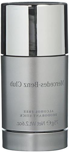 Mercedes-Benz Club Alcohol Free Deodorant Stick for Men, 2.6