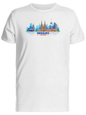 Cologne Germany City Skyline Men's Tee -Image by Shutterstoc