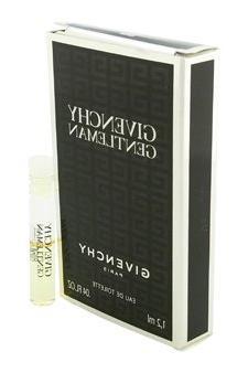 Givenchy Gentleman Eau de Toilette for Men, Vial, Mini, 0.04