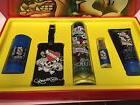 LOVE & LUCK By ED HARDY Cologne Men 5PC Gift Set 3.4 OZ + 3.