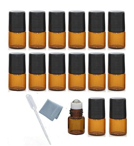 mini glass bottle empty aromatherapy bottles slim metal ball