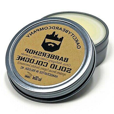 oak city beard co barbershop solid cologne