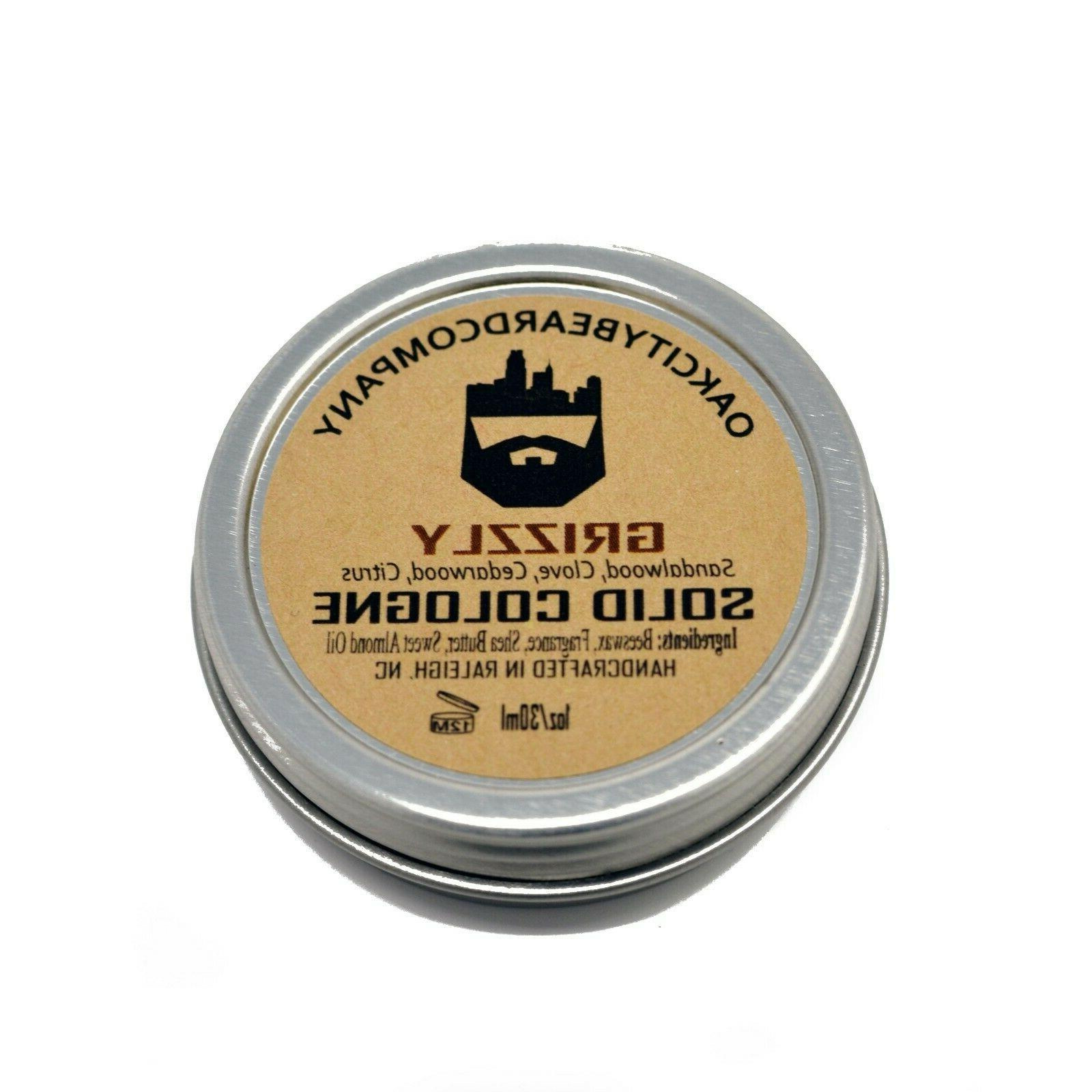 Oak City Beard Co.- Solid Cologne Natural Oils -