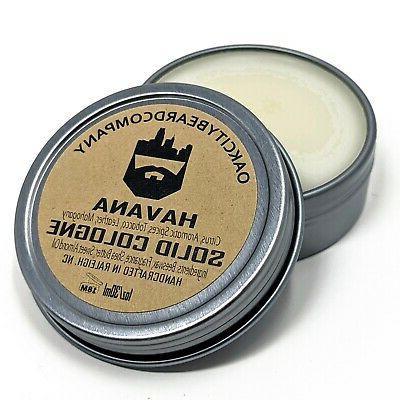 oak city beard co havana solid cologne