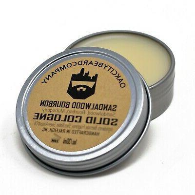 oak city beard co viking solid cologne