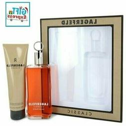 LAGERFELD CLASSIC Cologne 2PC GIFT SET EDT SPRAY 5.0 OZ + SH