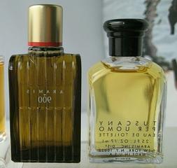 Lot 2 New Original Vintage mini Aramis Tuscany Per Uomo Herb