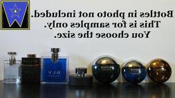 Bvlgari Men Cologne Decant Sample Lot Aqva Amara BLV Black +