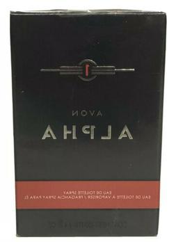 new AVON ALPHA Men's Fragrance EDT cologne spray 3.4 oz