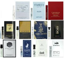 Men's cologne sampler set - Designer perfume sample Lot x 12