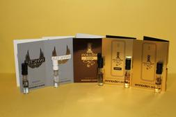 Paco Rabanne Men's Cologne Samples: 1 Million, Invictus, Int