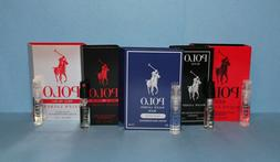 Ralph Lauren Men's Polo Cologne Samples - Red, Intense, Ultr