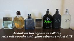 Calvin Klein Mens Cologne Decant Sample Lot ck one be truth