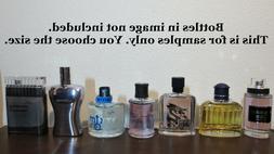 Jeanne Arthes Mens Cologne Decant Sample Lot *Read Descripti