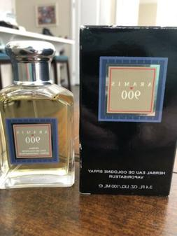 New In Box Aramis 900 Herbal Eau De Cologne Spray For Men -