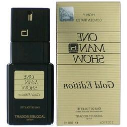One Man Show Gold Edition Cologne by Jacques Bogart 3.3 oz E