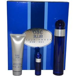 360 Blue by Perry Ellis for Men Gift Set
