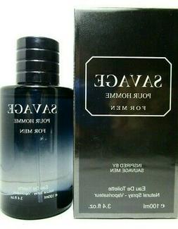 Savage Pour Homme Eau De Toilette Spray For Men 3.4 Oz / 100
