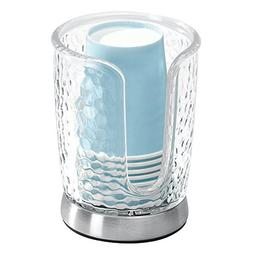 InterDesign Rain Disposable Paper Cup Dispenser for Bathroom