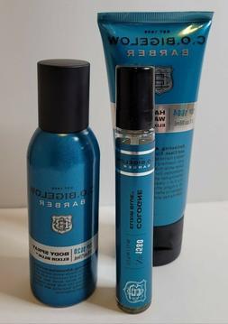 RARE Bath Body Works C.O. Bigelow Elixir Blue Cologne Hair B