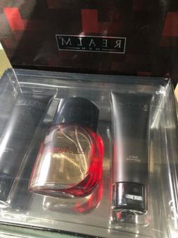 Realm Cologne for Men 3 pcs Gift set: 3.4oz Cologne Spray Fi