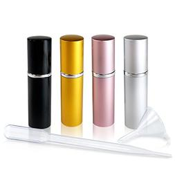 Refillable Glass Perfume & Cologne Fine Mist Atomizers with