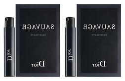 Dior Sauvage Sample-Vials For Men, 0.03 oz EDT -LOT OF 2- -N
