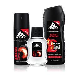adidas Team Force  3 PC - 8.4 oz Body Wash, 1.7 oz Eau de To