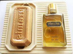 Vintage ARAMIS 2fl oz Cologne Soap on Rope Gift Set New Box